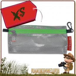 Pochette de Voyage DODGER Taille XS Tatonka Tissu polyester Mesh avec TPU transparent étanche