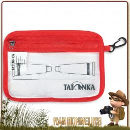 Pochette Transparente ZIP Flight A6 Tatonka ultra légère pour le voyage et la randonnée