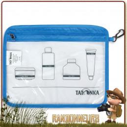 Pochette zippée de voyage ultra-légère Tatonka format A6 pour la randonnée légère ou les voyages, avec crochet