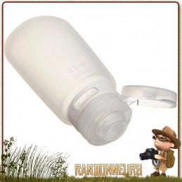 Flasque silicone souple Travel GoToob 74 ml Humangear pour produits cosmétiques en voyage et randonnée