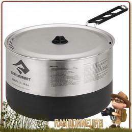 casserole Sea To Summit Sigma Pot Inox 1.2L traitement de surface Fluxtherm qui offre une meilleure répartition de la chaleur