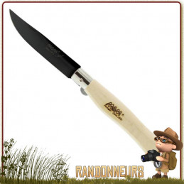 Couteau Pliant de poche mance bois de Hetre lame Titanium Noir MAM