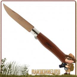 Couteau trekking de poche Pliant Bubinga lame Titanium Bronze MAM pour randonner