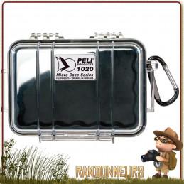 Boite étanche de protection waterproof Pelican Micro Case 1020 Noire pour matériel expedition scientifique