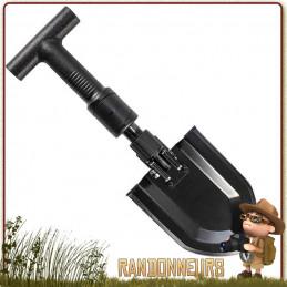 Pelle pliante avec manche télescopique de 20 à 28 cm Schrade. Une pelle compacte et pliante, ultra robuste acier carbone