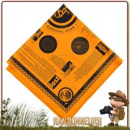 Bandana de Survie UST notions et instructions de survie imprimées pour pouvoir parer à l'urgence extrême