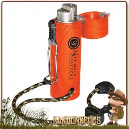 briquet TREKKER de Ultimate Survival Technologies est un briquet tempête très robuste. Également nommé Windmill