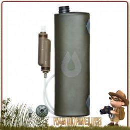 réservoir soupe et pliable aventure 3l hydrapak. Une poche à eau pliable souple avec pompe pour randonner léger