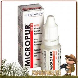 Micropur Forte Liquide MF 100 F Katadyn pour la désinfaction de l'eau potable avec le chlore et conservation ions argent