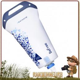 gourde katadyn BeFree 3 litres est une gourde souple filtrante utilisable aussi en filtre portable par gravité pour randonneurs