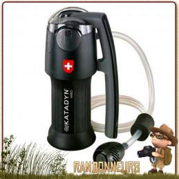 filtre katadyn vario portable pour la filtration de l'eau potable en trek par fibre de verre, céramique et charbon actif