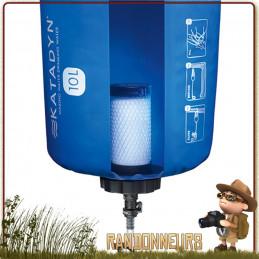 """Filtre eau portable Katadyn Base Camp Pro fonctionne sur le principe filtration par gravité fibres de verre """"Ultra Flow Filter"""""""