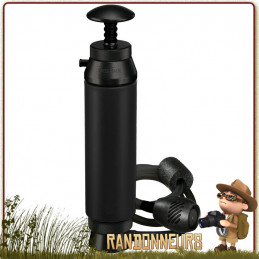 Le filtre Katadyn Pocket Tactical, dédié aux forces armées, assure un grand débit de filtration jusqu'à 50000 litres