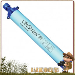 paille de filtration Lifestraw est un allié de la randonnée légère et de la survie pour filtrer eau potable d'une rivière