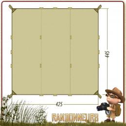 tarp 1 simple Tatonka, abri bivouac toile polyester étanche légère pour la construction d'un abri tarp bushcraft