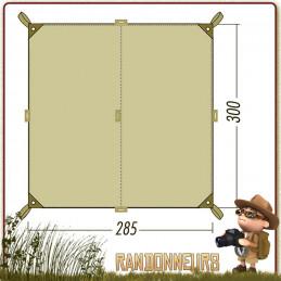tarp 2 simple Tatonka, abri bivouac toile polyester étanche légère pour la construction d'un abri tarp bushcraft