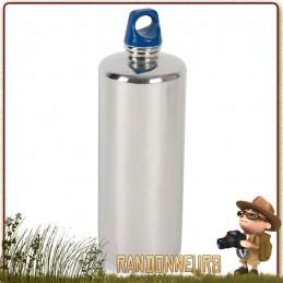Gourde de randonnée 1 Litres 100 cl en inox 18/8, robuste et durable tatonka pour randonnée bushcraft