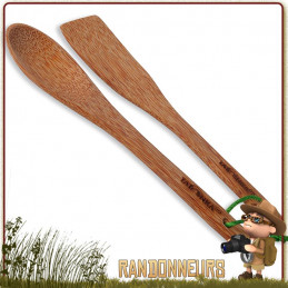 Ensemble compact de cuillères en bois de coco pour la vaisselle bushcraft et camping tatonka