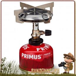 réchaud gaz Mimer Primus permet une grande stabilité de vos popotes et casseroles grâce à ses larges ailettes