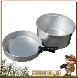 Popote familiale de camping aluminium CAO de 4 Litres pour la famille ou les groupes de randonneurs, avec pince preneuse