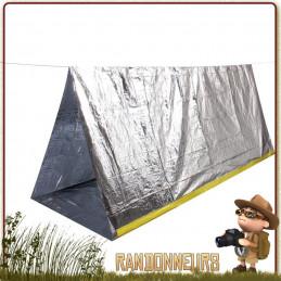 tente abri de survie, toile de tente en couverture de survie isothermique pour se protéger du froid et de la pluie