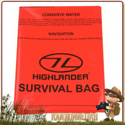 sursac de survie deux 2 places highlander, un bivy bag étanche pas cher pour le bushcraft survie nature
