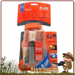 Kit de survie SCOUT de SOL, équipement de survie complet, léger et compact