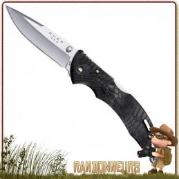 Couteau Bantam Kryptek Typhon BUCK - Couteau pliant Buck, le Bantam propose une lame acier 420 de 8 cm à cran intérieur