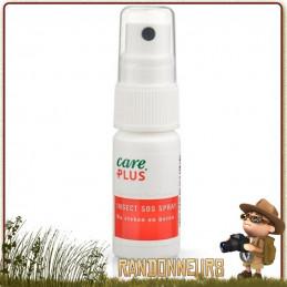 Spray SOS Insectes Care Plus apaisant après piqures, morsures d'insectes ou de plantes type ortie