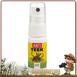 Spray 15ml lotion fortement répulsif Anti Tiques pour protection des tiques en randonnée bushcraft