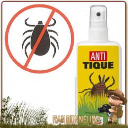 Care Plus flacon 100ml lotion fortement répulsif Anti Tiques pour se protéger tiques en randonnée bushcraft