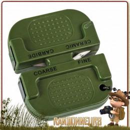 Affûteur de précision Highlander. Léger, compact se transporte facilement dans votre kit edc avec votre couteau de survie