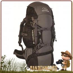 Le Sac à Dos DISCOVERY 45 Litres NOIR Highlander est un sac à dos taillé pour les randonneurs et le trek, grâce à sa robustesse