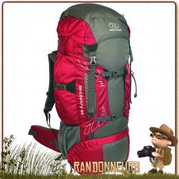Sac à Dos DISCOVERY 45 Litres ROUGE Highlander pour le trek et la randonnée en montagne