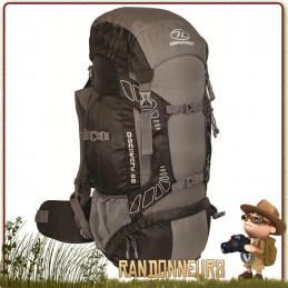 Sac à Dos DISCOVERY 65 Litres NOIR Highlander de grande randonnée en montagne et trekking ultra léger