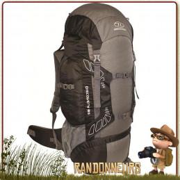 Sac à Dos DISCOVERY 85 Litres NOIR Highlander grand volume de portage pour le trekking et la randonnée