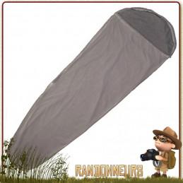 """Drap de sac couchage highlander type """"sarcophage"""" en polyester brossé à effet coton doux au toucher de camping"""