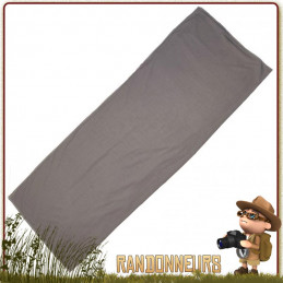 """Drap de sac couchage type """"couverture"""" en polyester brossé à effet coton prolongeant la durée de vie du sac de couchage"""