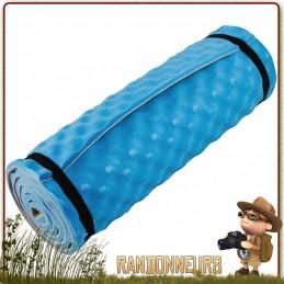 Matelas Mousse structure alvéolée CONFORT CAMPER Bleu Highlander pour conserver la chaleur corporelle