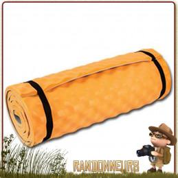 Matelas Mousse CONFORT CAMPER Orange Highlander trois saisons épais robuste confortable bivouac bushcraft