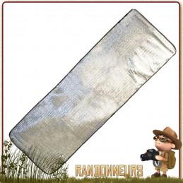 Tapis de sol, version couverture de survie isolante, pour matelas de couchage et assurer une meilleure isolation au sol