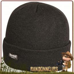 Bonnet type Commando de couleur Noir, Tissu 100% acrylique Thinsulate 3M, taille unique