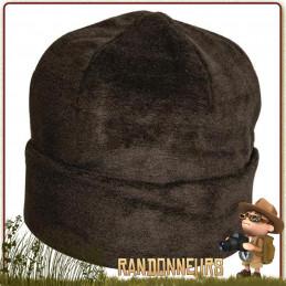 Bonnet type Commando de couleur Noir, Tissu double couche polaire 100% acrylique, taille unique