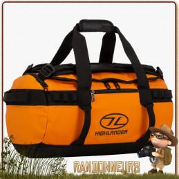 Sac expédition Duffle Bag Etanche Storm KitBag 30L ORANGE Highlander de voyage trekking