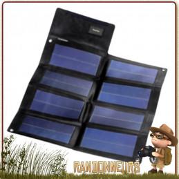 Chargeur Solaire PT12 12W Powertec sortie 12V 800 mAh flexible ultra mince cellules monocristallines à très haut rendement