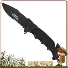 Couteau herbertz Top Collection pliant lame 8 cm noire à dents acier 440 à cran intérieur et bouton double