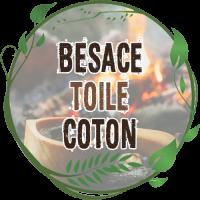 besace toile coton bushcraft vintage pochette pour transport matériel réndonnée bushcraft survie en forêt